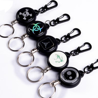Wholesale Burglar Wired - TAD Steel Rope Burglar Keychain TAD equipment Retractable Stainless steel wire Key Chain