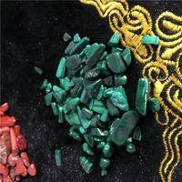 Wholesale Malachite Antique - 100g Bag malachite Irregular Tumbled Stones Gravel Crystal Healing Reiki Rock Gem Beads Chip for Fish Tank Aquarium Decor