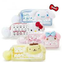 4958a31c490 Cartoon Plush My Melody Hello Kitty Cinnamoroll Pudding Dog PVC Cosmetic Bag  Kids Pen Bags