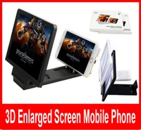 Wholesale Eye Expander - New Universal Mobile Phone 3D Enlarged Screen Amplifier Eyes Protection Display Folding Enlarged Expander Leather Stand.