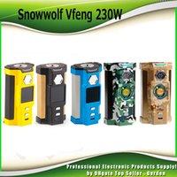 Wholesale Atomizers Led - Original SnowWolf Vfeng Vape Box Mod 230W TC Mods Atomizer Dual 18650 Cells 1.30 Inch Color LED Screen Update Sigelei Kaos 100% Authentic