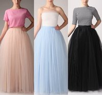 Wholesale Gowns Colors Orange - Fashion Simple Women Skirts All Colors 5 layer Floor Length 2015 Adult Long Tutu Tulle Skirt A Line Plus Size Free Shipping Long Skirts