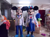Wholesale Navy Mascot Costumes - 2015 NEW Mickey and Minnie Mascot Costumes navy Mouse couple mascot costume adult size free shipping