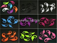 spiral ear gauges set - 2mm mm acrylic mix solid color angle wing spiral ear taper hanger plug gauges expander stretcher Body Piercing Jewelry