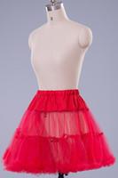 Wholesale Crinoline Net White - Multi-color Cheap Vintage Wedding Petticoat Underskirt Swing Fancy Net Skirt Rockabilly Tutu for Pageant Prom Dresses 8 Colors Choose CPA216
