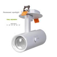15w led spotlar toptan satış-Avrupa Yakınlaştır Uzaklaştır Rotasyon Ayarlı 10W 15W 20W Değişken Odaklı Gömme LED Spot Işığı Değiştirilebilir Işın Açısı 15 20 30 60 70