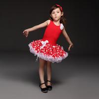 ropa roja caliente al por mayor-Pettigirl Hot Sale Red Baby Girls tutú Vestidos Moda Patrón de punto Princesa Vestido Novely Y Hermosos Niños Ropa TD21013-06