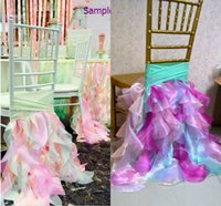 Wholesale Organza Chair Sashes Bow Cover - 2015 For Organza Colorful Chair Sashes Chair Covers Sample Link