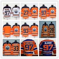 Wholesale Ryan Nugent Hopkins - 97 Connor McDavid Jersey 2017-2018 Edmonton Oiler 27 Milan Lucic 29 Leon Draisaitl 93 Ryan Nugent-Hopkins Hocekey Jerseys Cheap Stitched