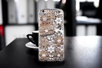 Wholesale Diamond Case For Blackberry - Diamond Crystal Hard 3D Handmade Luxury Bling Jewelled Rhinestone Case Cover For iPhone Samsung Galaxy Huawei XiaoMi LG Sony
