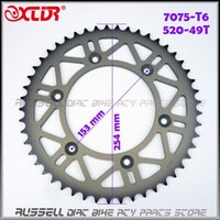 Wholesale Bike Parts Sprocket - Rear chain Wheel sprocket Gear #520 - 49T Tooth 7075 T6 Aluminum High Quality For Dirt Pit Bike off road accessories Parts