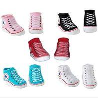 Wholesale baby sock shoe wholesale online - Baby Infant Shoe Socks Sapatinhos De Bebes Meninos Cotton Trainer Shoe Socks M Bootie pairs