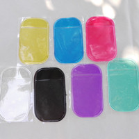 Wholesale Sticky Pad High Quality - Silica Gel Magic Sticky Pad Anti Slip Non Slip Mat Mats pads for Phone PDA mp3 mp4 Car High quality one day shipping