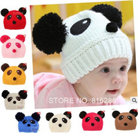 Wholesale Crochet Animal Hats For Sale - Hot Sale Lovely Animal Panda Baby Hats And Caps Kids Boy Girl Crochet Beanie Hats Winter Cap For Children To Keep Warm