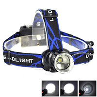 Wholesale Rechargeable Head Torches - Super Bright 2000LM XML XM-L T6 LED 3-mode 18650 Rechargeable Zoomable Waterproof Camping Hunting Headlamp Headlight Head Torch Lamp