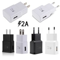 Wholesale White Ac Adapter - Universal 5V 2A Real Capacity US Eu White Black Ac home travel wall charger power adapter for samsung s6 s7 s8 note 8 iphone android phone
