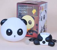 Wholesale art deco plastic resale online - Creative cute cartoon panda warm lamp night light pled in