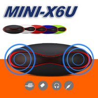 Wholesale hands free mp3 player - Mini X6u Rugby Bluetooth Speaker Hands free V3 Audio Portable Wireless Stereo Speakers MP3 Player Subwoofer U Disk TF Card With Retail Box