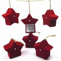 unhas vermelhas apontadas venda por atacado-Caixas de Presente de natal Cinco Pontas Estrela Vermelho Portátil Anel Orelha Prego Organizador de Embalagem Da Caixa de Alta Qualidade 2 9zr BW