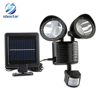 Wholesale high power wall solar lights resale online - New LED Solar Lamp Solar Light PIR Motion Sensor High Power Outdoor Waterproof Street Light Security Lighting Solar Wall Lamp