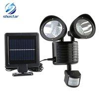 ingrosso lampada solare ad alta potenza-New 22 LED Solar Lamp Solar Light PIR sensore di movimento ad alta potenza esterna impermeabile illuminazione stradale di sicurezza Illuminazione solare lampada da parete