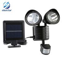 lámparas de pared de energía solar al por mayor-Nuevo 22 Lámpara Solar LED de Luz Solar PIR Sensor de Movimiento de Alta Potencia Al Aire Libre Impermeable Luz de Calle Iluminación de Seguridad Lámpara de Pared Solar