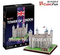 Wholesale Tower London 3d Puzzle - Wholesale-Tower of London CubicFun 3D educational puzzle Paper & EPS Model Papercraft Home Adornment for christmas gift