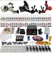 máquina de alimentação venda por atacado-Fábrica Completa Tatuagem Kit 3 Pro Rotary Metralhadoras 54 Tintas de Alimentação Power Needle Grips TK355