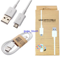 Wholesale Galaxy S4 Charging Cable - 1M 3FT Micro USB 3.0 Data Sync Charge charging adapter Cable With Retail Package For Samsung Galaxy S4 S3 Charger Cables