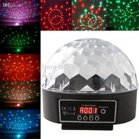 Gros UA Plug Déménagement Magic Crystal Projector Head Laser Lumières Digital Sound RGB LED BALL DMX scène Effet lumineux Disco Divertissement