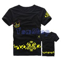 Wholesale One Piece Anime Trafalgar - Wholesale-Anime One Piece Trafalgar Law Cosplay T-Shirt Men Women Casual Tee Shirts Cotton Tops Costume Size M-XXL Free Shipping
