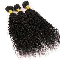 Wholesale virgin bohemian human hair resale online - Virgin Human Hair Wefts Brazilian Hair Bundles Weaves Water Wave inch Unprocessed Peruvian Indian Malaysian Bohemian Hair Extensions
