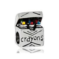 spacer manufacturers - China manufacturer colorful crayons for children metal slider bead European spacer charm fit Pandora Chamilia Biagi charm bracelet