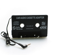 Wholesale Mp3 Converter Phone - Audio Aux Car Cassette Tape Adapter Converter 3.5mm MP3 Player for iphone for ipod MP3 MP4 Android Phone