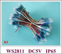 Wholesale Ws 2811 - waterproof IP67 WS 2811 full color LED pixel light module LED exposed light string for sign letters PVC DC5V 0.3W WS2811 CE