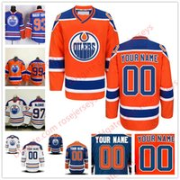 Wholesale Cheap Hockey Jerseys Edmonton - Stitched Custom Edmonton Oilers mens womens youth OLD BRAND Orange Personalized Customized royal Blue White ice Hockey cheap Jerseys S-4XL