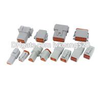 deutsch connector wholesale Canada - 6 Sets of (2+3+4+6+8+12)Pin waterproof wire electrical connector plug 22-16AWG Automobile Deutsch Connector