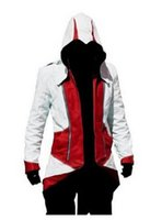 Wholesale Ezio Cosplay Costume - Wholesale-Assassins Creed Cosplay Costume Ezio Costume Hoodie Jacket Coat