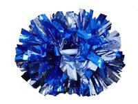 Wholesale High quality CM game pompoms cheering supplies Cheerleader pom poms supplies PVC pompons Color can free combination