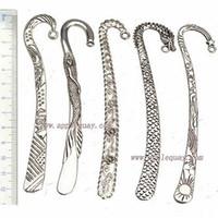 Wholesale Books Wholesale Suppliers - DIY Mixed Bookmarks Tab For Books School Supplier Office Stationery Long Large Vintage Silver Animal Dragon Flower Metal Wedding Gifts 25pcs