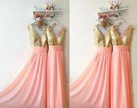 en iyi nedime elbiseleri toptan satış-En iyi Kalite Payetli Şifon Parlak Uzun Gelinlik Modelleri Ucuz Balo Akşam Ruffles Kolsuz Özel Vestidos Trendy Nedime Elbisesi