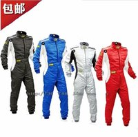 Wholesale Cars Suits - Free shipping omp car motorcycle racing suit jacket pants coverall polyester not fireproof 4colors size XS-4XL fit men and women