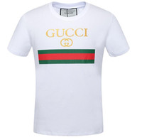 Wholesale Men Ribbed T Shirts - HOT New Luxury Brand embroideryt shirts for men Italy Fashion polo g shirt shirt men High street Snake Little Bee Tiger print mens t-shirt