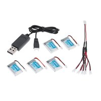 Wholesale Rc Hexacopter - New Original JJRC H20 3.7V 150mAh 30C Lipo Battery and Charging Cable Set RC Hexacopter Part H20-001