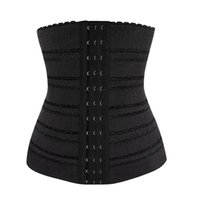 Wholesale Girdles Wholesale - Wholesale-Women Slimming Body Shaper Plus Size Waiste Trainer Waist Cincher Trainer Body Tummy Girdle Control Corset Black Sport Shapers