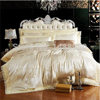 Wholesale Christmas Bedding Sets Queen - MFH French Luxury bedding sets Mordern bed linen designer lace duvet covers Christmas bedclothes cotton sheets king size gift.