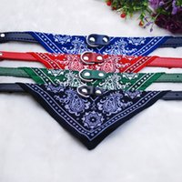 Wholesale Choice Cat - Free Shipping 5 Colors Adjustable Pet Dog Cat Bandana Scarf Collar Neckerchief 4 size for choice,500pcs lot