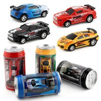 Wholesale High Speed Micro Motors - Hot 1 63 Coke Can Mini RC Car Multi-color High Speed Truck Radio Remote Control Micro Racing Vehicle Controle Electric Toys Free DHL