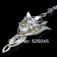 Wholesale twilight pendants for sale - Group buy Free DHL UPS Shipping LoTR Jewelry Arwen Evenstar Twilight Star Pendant Necklace Fashion movie necklace