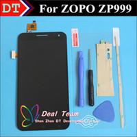 dokunmatik panelli cep telefonu toptan satış-Toptan Satış - Toptan-100% orijinal Yeni LCD Ekran + Sayısallaştırıcı Dokunmatik Ekran Cam panel ZOPO ZP999 3X 5.5